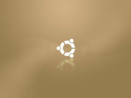 светло-коричневые обои ubuntu