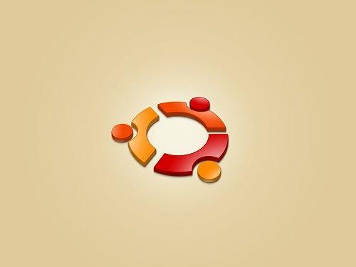простые обои с логотипом ubuntu