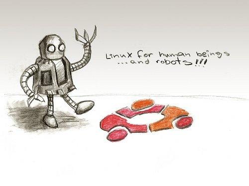 обои ubuntu с иллюстрацией