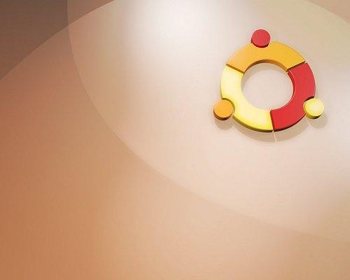 разноцветный логотип ubuntu на обоях