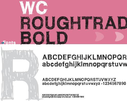 шрифт в стиле гранж