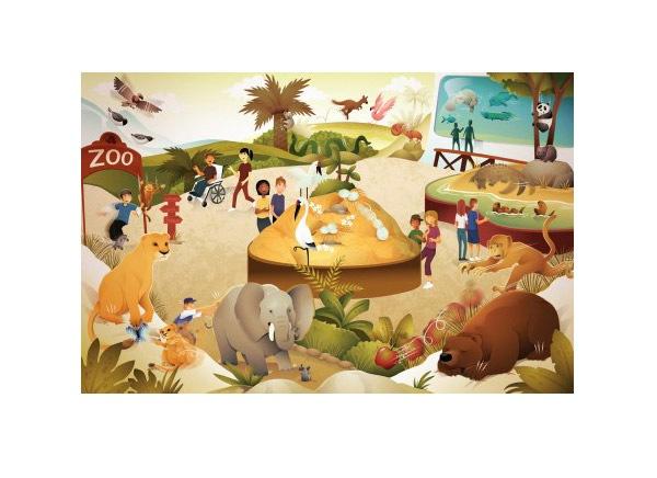 векторная иллюстрация зоопарка