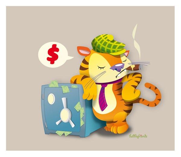 тигр миллионер в векторе