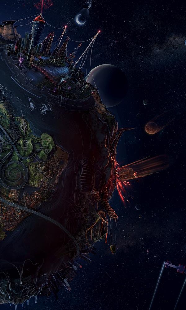 иллюстрация земли и космоса