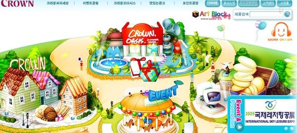 яркие красочные рисунки в дизайне сайта