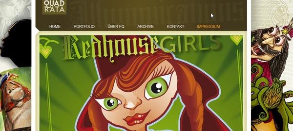 креативные рисунки в дизайне сайта