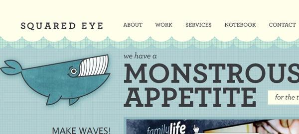 иллюстрация кита на сайте