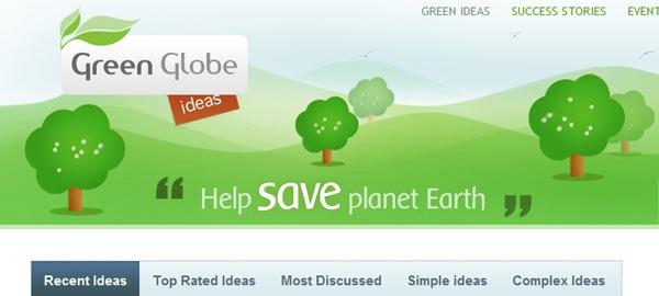 сайт с иллюстрацией зеленого поля