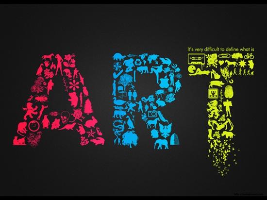 Яркая типографическая иллюстрация