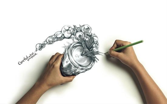 Креативная иллюстрация на обоях
