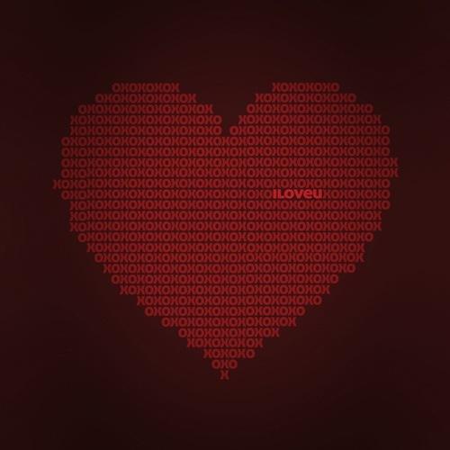 типографическое сердце