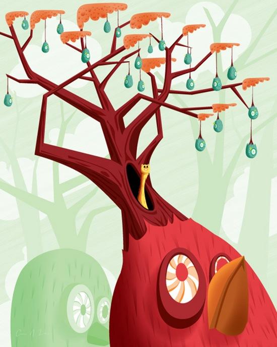 дерево-птица