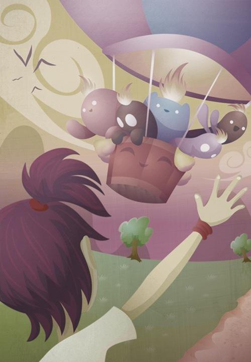 монстры на воздушном шаре