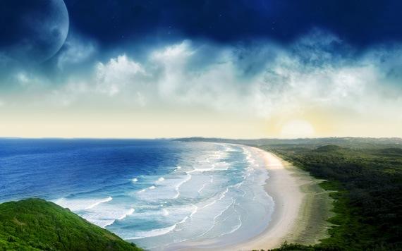 Прибрежный закат