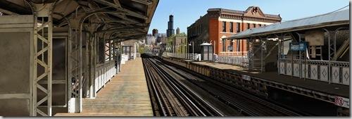 Вид на железнодорожную станцию