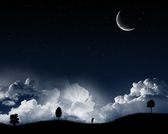 Темная звездная ночь