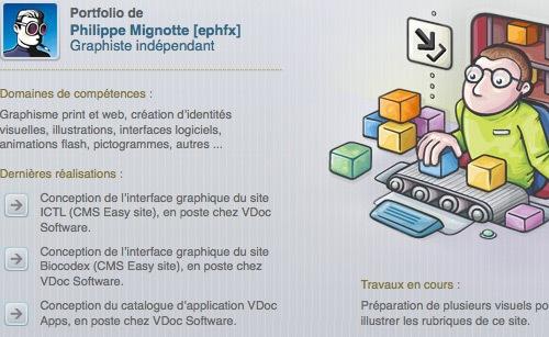 иллюстрация в дизайне сайта
