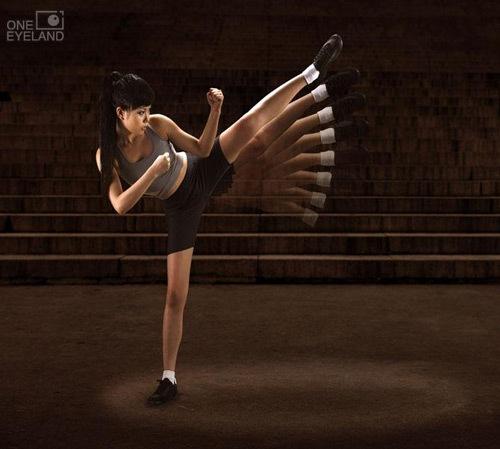 летящая девушка