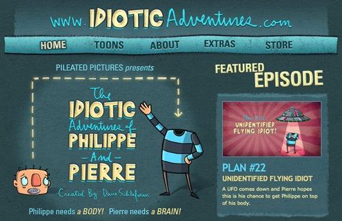 забавные иллюстрации в дизайне сайта