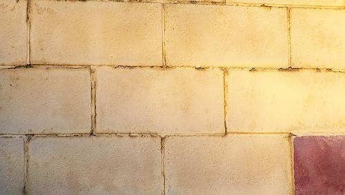 Стена из бетонного кирпича