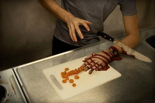 изрезанный ножом