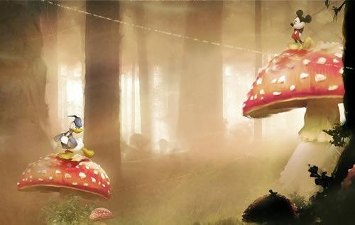 Обои к игре Мир иллюзий Микки Мауса и Дональда Дака