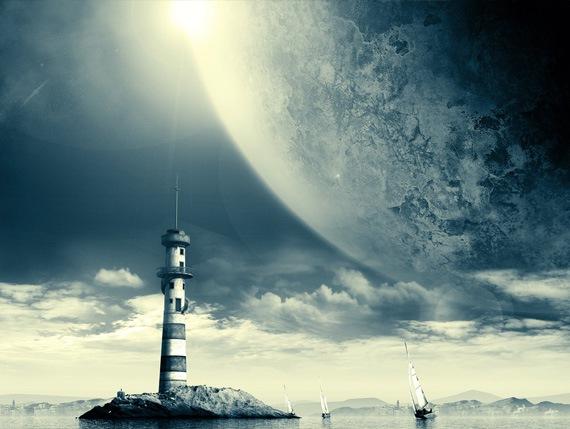 маяк фотообои: