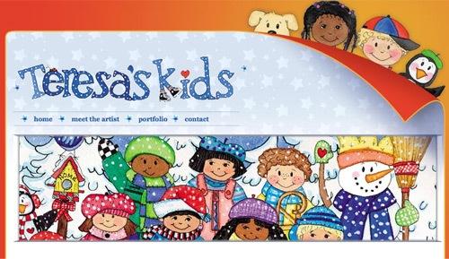 детский сайт с эскизами в дизайне
