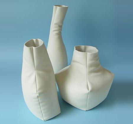 Кожаная ваза