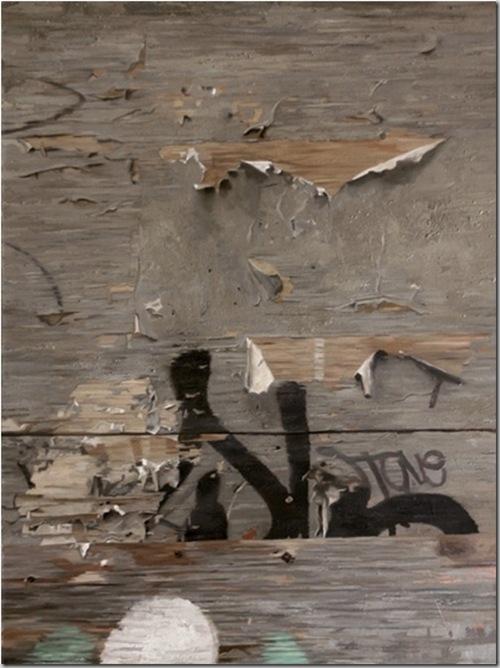 Граффити и шелушащееся дерево