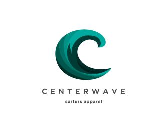 логотип в виде волны для серферов