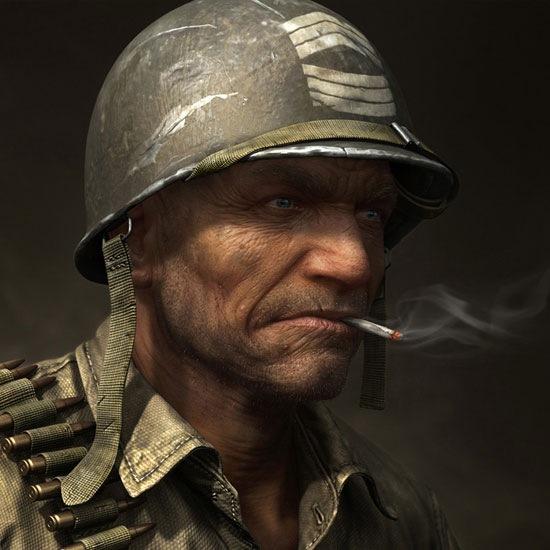 Солдат из игры