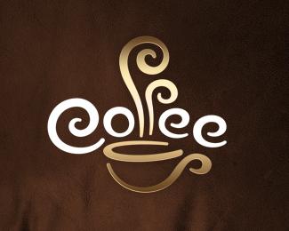 креативные кофейный логотип