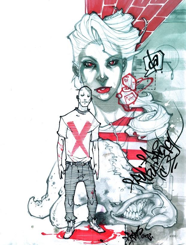 креативные граффити иллюстрации