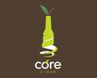 креативная бутылка на фоне лого
