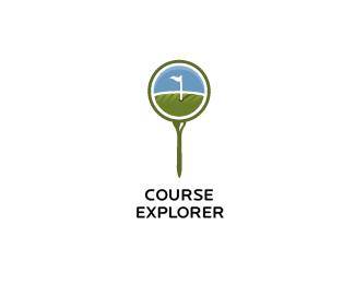логотип в форме лупы