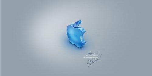 обои с логотипом apple