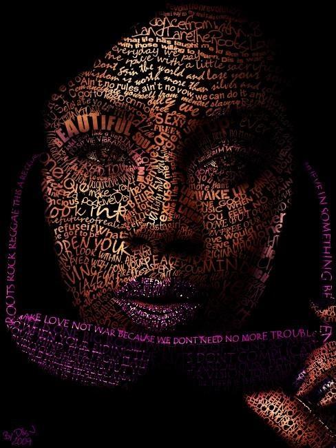 типографический портрет Бритни