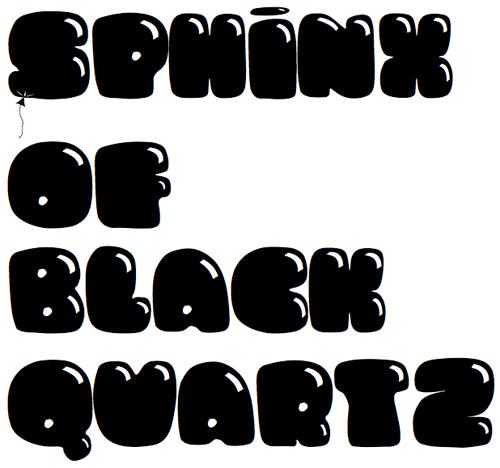 Дутый шрифт в виде воздушных шариков