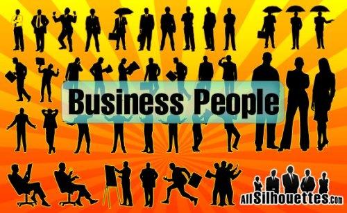 Набор бизнесс силуэтов людей