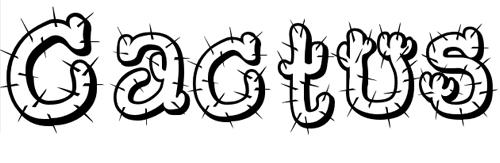 Шрифт с колючками