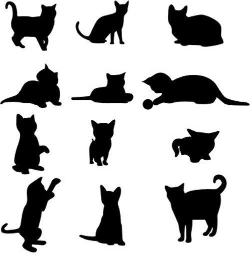 Силуэты котов картинки