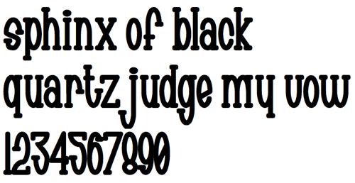 Ровный шрифт