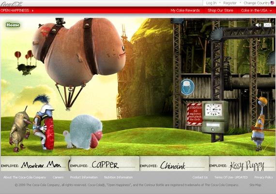 сайт с игрой фабрики coca-cola