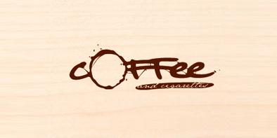 стильный логотип с кофе