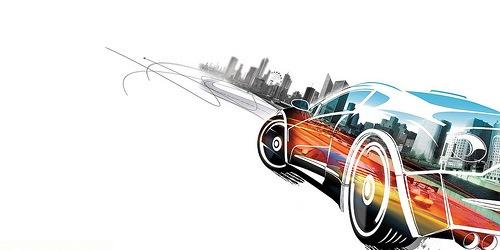 иллюстрация цветной машины