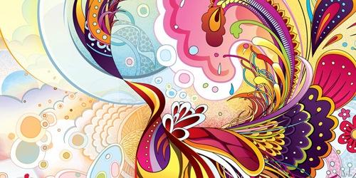 яркия разноцветные иллюстрации
