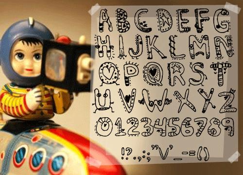 Иллюстрированный шрифт