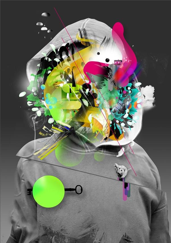 абстрактные элементы в фотоманипуляции