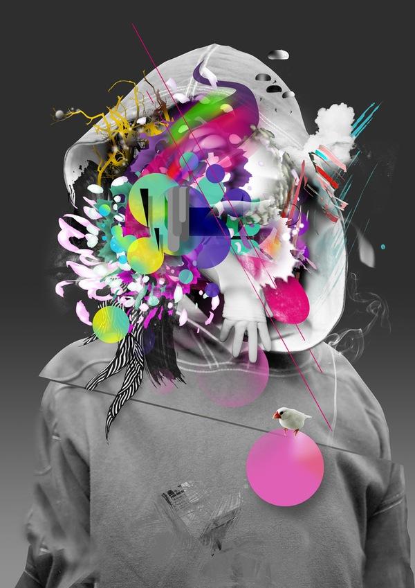 яркие абстрактные элементы